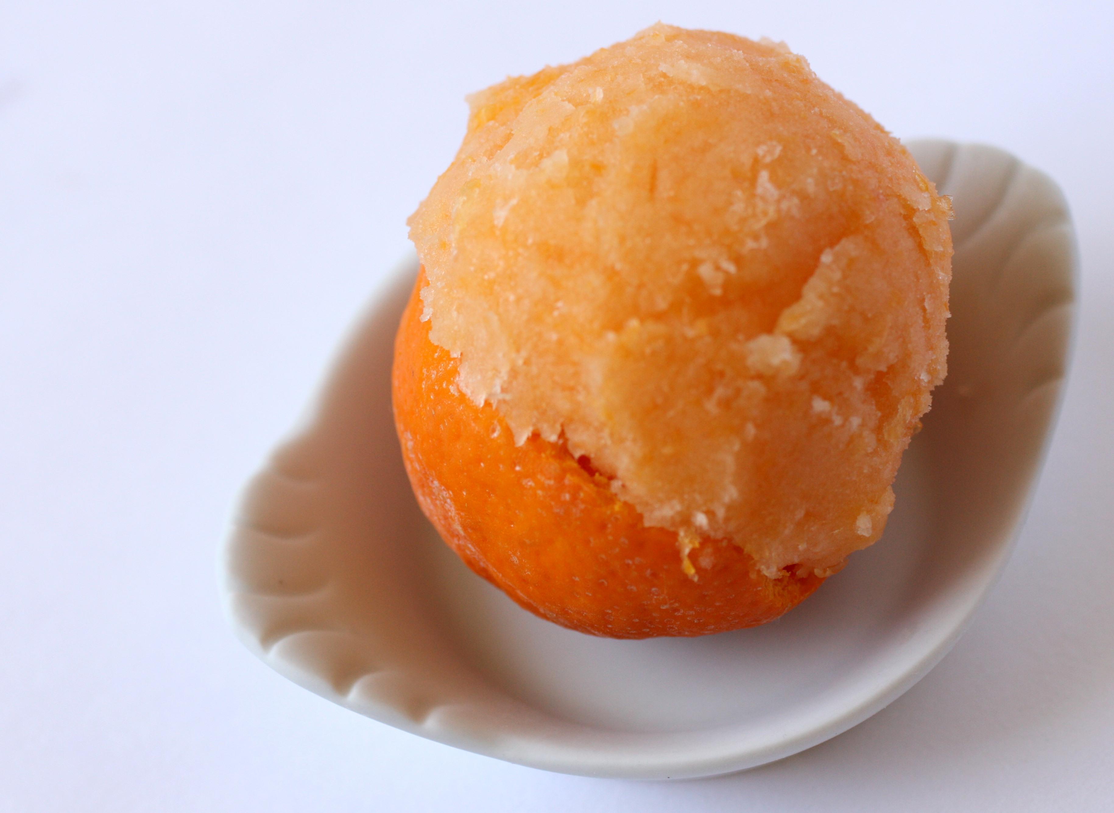 the tangerine juice into tangerine sorbet 3 tangerine anise sorbet ...